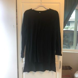 black long sleeve with slits